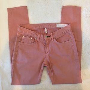 Rag & Bone skinny jean dusty rose/salmon pink 28
